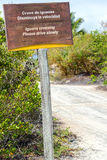 Iguana Crossing Sign Stock Photo