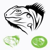 Iguana head. Vector illustration of iguana head royalty free illustration