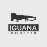 Iguana silhouette Royalty Free Stock Photography