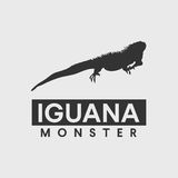 Iguana silhouette Royalty Free Stock Images