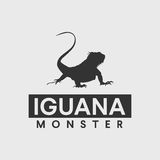 Iguana silhouette Royalty Free Stock Photo