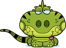 Iguane de Goofy de bande dessinée illustration stock