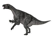 Iguanodon dinosaur roaring while walking - 3D render Stock Photography