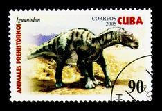 Iguanodon, Dinosaurussen serie, circa 2005 Royalty-vrije Stock Afbeelding