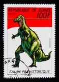 Iguanodon förhistorisk djurserie, circa 1987 Royaltyfri Foto