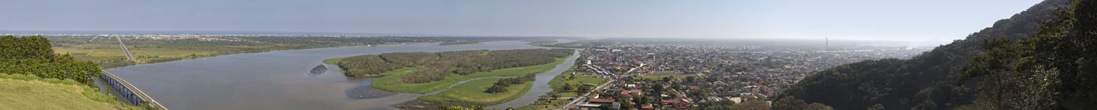 Iguape - panoramautsikt Arkivfoton