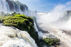 Iguassu понижается сторона Бразилии Стоковое фото RF