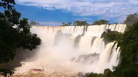 Iguassu cai vídeo video estoque