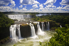 Iguassu Falls is the largest series of waterfalls on the planet. Located in Brazil, Argentina, and Paraguay in South America. During the rainy season one can