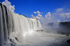 Iguassu Falls is the largest series of waterfalls on the planet Stock Photo