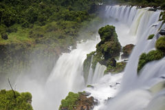 Iguassu Falls is the largest series of waterfalls on the planet Royalty Free Stock Photography