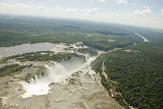 Iguassu Falls Aerial View Royalty Free Stock Images