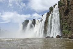 Iguassu Falls from Boat Royalty Free Stock Photography