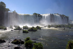 iguassu falls in brazil Royalty Free Stock Photo
