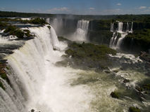 Iguassu falls, Brazil. View of Iguassu falls as seen from the Brazilian side Stock Images