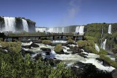 Iguassu Falls on the Brazil Argentina border stock photo