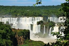 Iguassu falls, Brazil Royalty Free Stock Photos