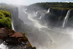 Iguassu Falls Canyon Argentina and Brazil Stock Photos