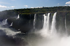 Iguassu Falls Canyon Argentina and Brazil Royalty Free Stock Images