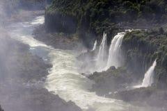 Iguassu Falls Canyon Argentina and Brazil Royalty Free Stock Photo