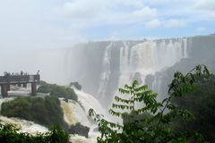 Iguassu Falls Garganta del Diablo view point Royalty Free Stock Photo