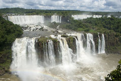 Iguassu Falls Argentina from Brazil Stock Images