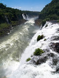 Iguassu falls, Parana river, Brazil. Multiple waterfalls at Iguassu Falls in Brazil Royalty Free Stock Photography