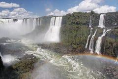 Iguassu Falls with Rainbow Argentina Brazil Stock Image