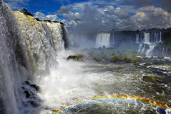 Iguassu Falls, view from Brazilian side Royalty Free Stock Image