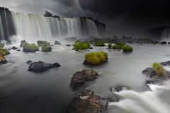 Iguassu Falls, view from Brazilian side Stock Image