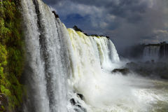 Iguassu Falls, view from Brazilian side Royalty Free Stock Photos