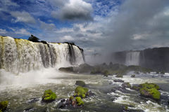 Iguassu Falls, view from Brazilian side Stock Photo