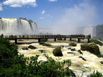 Iguassu Falls. View of the Iguazu Falls. Iguassu Falls is the largest series of waterfalls on the planet, located in Brazil Royalty Free Stock Photo