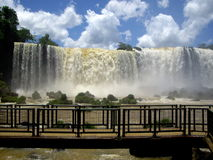 Iguassu Falls. View of the Iguazu Falls. Iguassu Falls is the largest series of waterfalls on the planet, located in Brazil Stock Photos
