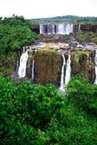 Iguassu (Iguazu ; Automnes d'Igua?u) - grandes cascades à écriture ligne par ligne Images libres de droits