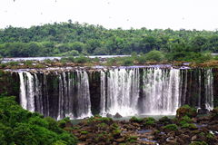 Iguassu (Iguazu; Caídas de Igua?u) - cascadas grandes Foto de archivo libre de regalías