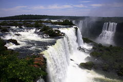 Iguassu (Iguazu; Iguaçu) Falls - Large Waterfalls Royalty Free Stock Photography