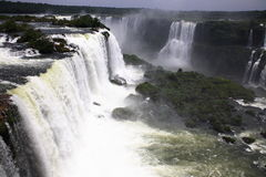 Iguassu (Iguazu; Iguaçu) Falls - Large Waterfalls Royalty Free Stock Photo