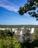 Iguassu nedgångar från Afar arkivbilder