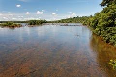 Iguassu River Argentina and Brazil Royalty Free Stock Photography