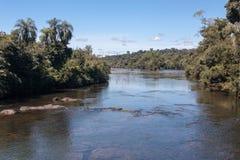 Iguassu River Argentina and Brazil Royalty Free Stock Images