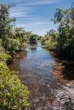 Iguassu River Argentina and Brazil Stock Photos