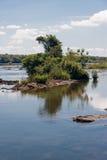 Iguassu River Argentina and Brazil Stock Image