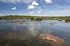 Iguassu River Argentina and Brazil Royalty Free Stock Photos