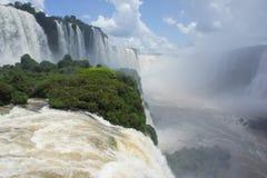 Iguassu vattenfall i Sydamerika Arkivfoton