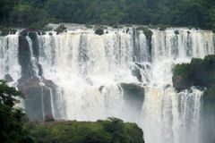 Iguassu waterfall panorama Royalty Free Stock Photos