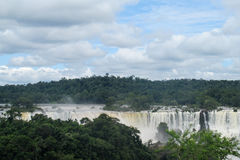 Iguassu waterfall panorama Royalty Free Stock Image