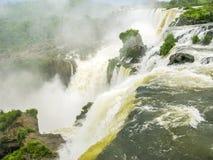 Iguassu waterfall in south america tropical jungle Stock Photo