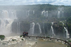 Iguassu waterfall viewpoint Stock Photo