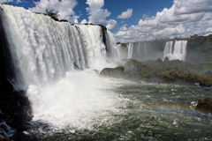Iguassu Waterfalls Aegentina Brazil Stock Photos